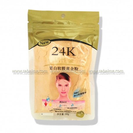 Золотая маска для лица, 24 K Active Gold Whitening Soft Mask Gold Powder